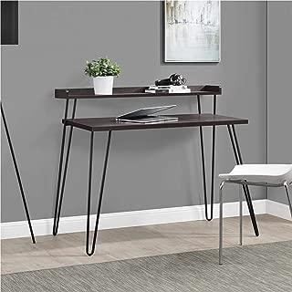 Ameriwood Home Haven Retro Desk with Riser, Espresso (Renewed)