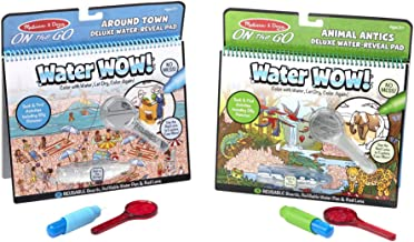 Melissa & Doug Water Wow Deluxe Bundle: Around Town and Around Animal Antics