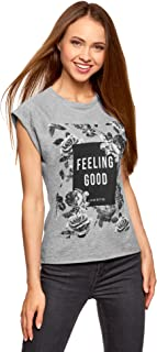 Ultra Women's Printed Relaxed-Fit T-Shirt with Raw Hem