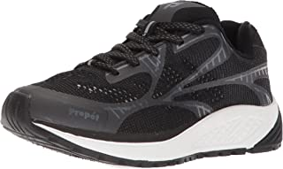 Propet Women's One LT Sneaker, Black/Grey, 10.5 Narrow