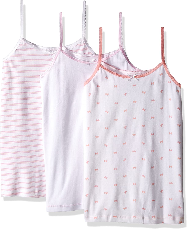 Trimfit Little Girls Camisole Undershirt 100 Percent Combed Cotton 3-Pack