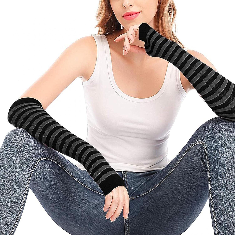 Arm Warmers, Punk Gothic Rock Long Arm Warmer Fingerless Gloves Reasoncool