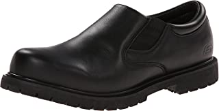Skechers for Work Men's Cottonwood Goddard Twin Gore Slip Resistant Slip On