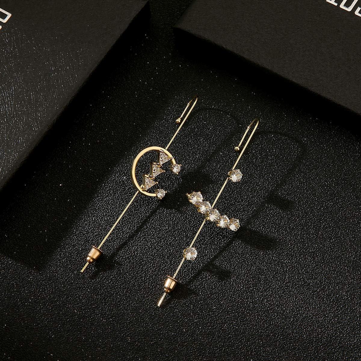 Ear Wrap Crawler Hook Earrings | Hypoallergenic Piercing Ear Cuffs Crawler Hook Earrings for Women