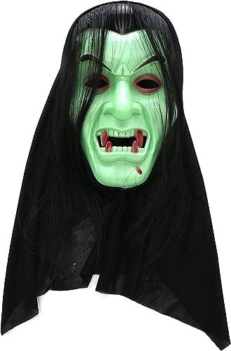 Ahorre 60% de descuento y envío rápido a todo el mundo. Komonee Dracula Vampiro verde verde verde Traje Adulto máscara de Halloween (Pack of 25) (HM1)  al precio mas bajo