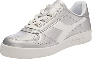 DIADORA Women's B.Elite L Metallic White Trainers Shoes