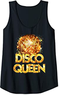 Womens Disco Queen - 70's Disco Themed Vintage Seventies Costume Tank Top