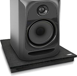 """Pyle acústica aislamiento de sonido Dampening Recoil Estabilizador altavoz Riser, Gris carbón, 22.5"""" x 17.8"""""""