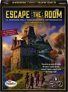 ThinkFun 76368, Escape The Room, The Secret of the Observers, Board Game, 3-8 Players, Age 10+