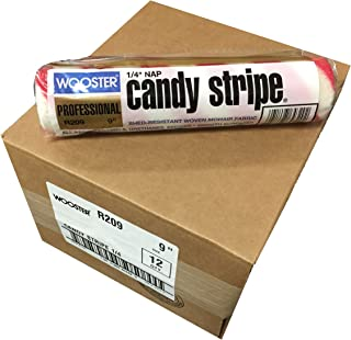 Wooster Brush R209-9 Candy Stripe Roller Cover 1/4-Inch Nap, Pack of 12