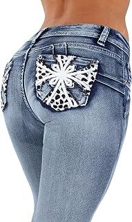 Fashion2Love Style SF35057S–Colombian Design, Butt Lift, Levanta Cola, Skinny Jeans