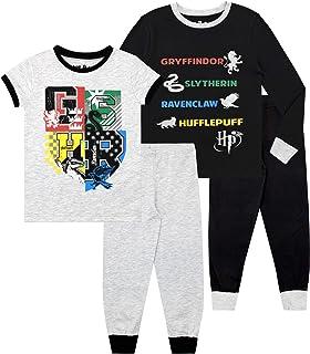 HARRY POTTER Pijamas Paquete de 2 para niños Hogwarts Ajuste Ceñido