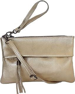 zarolo Damen Tasche, kleine Umhängetasche aus echtem Leder, Cross Body, Schultertasche, Leder Clutch, Leder Abendtasche, i...