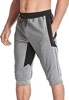 MAGCOMSEN Men's 3/4 Capri Pants Jogger Sweatpants Workout Pants with Pockets Slim Fit Running Pants