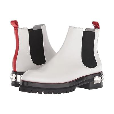 Alexander McQueen Mod Boot (White/Lust Red/Black) Women