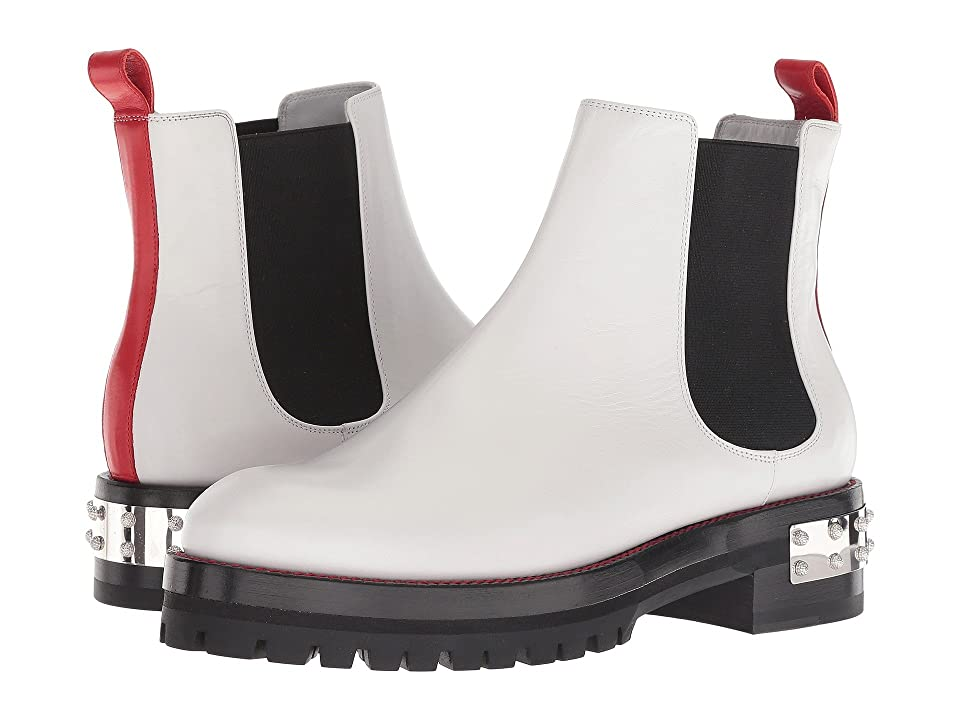 Alexander McQueen Mod Boot (White/Lust Red/Black) Women