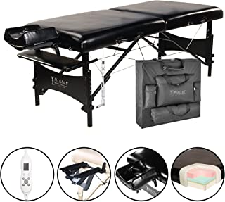 Master Massage 30 Galaxy Therma-Top Portable Massage Table Package, Black, Adjustable Heated Top