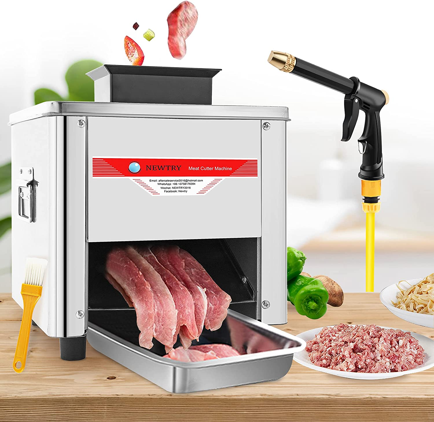 NEWTRY 5mm Beauty products Commercial Meat Machine Cutter Slicer Cutting Beauty products