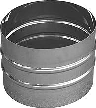 Manicotto maschio/maschio in acciaio inox per canne fumarie (DN 150)