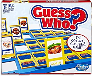 Guess Who Classic - the original guessing game - guess the characters - 2 Player - Board Games & Toys for Kids - Ages 6+