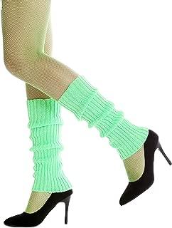 Dress Me Up - W-020A-green Stulpen Beinwärmer Beinstulpen im 80er Jahre Stil grün Aerobic