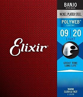 Elixir 11600 Elixir 11600 Polyweb Coating Nickel-Plated Steel Banjo 5-Strings, Light .009 - .009 Gauges