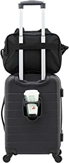 2 Piece Smart Spinner Carry-On Luggage Set, Black