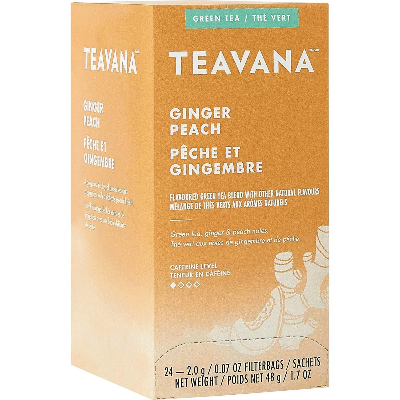 Teavana SBK12434017 Max 57% OFF Ginger Peach 24 Courier shipping free Tea Box Green