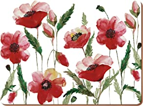 (Large Placemats, Watercolour Poppy) - Creative Tops Watercolour Poppy Premium 4-Piece Set of Cork-Backed Extra Large Plac...