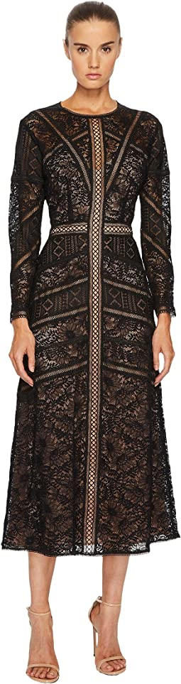 The Kooples - Lace Dress with Long Sleeves