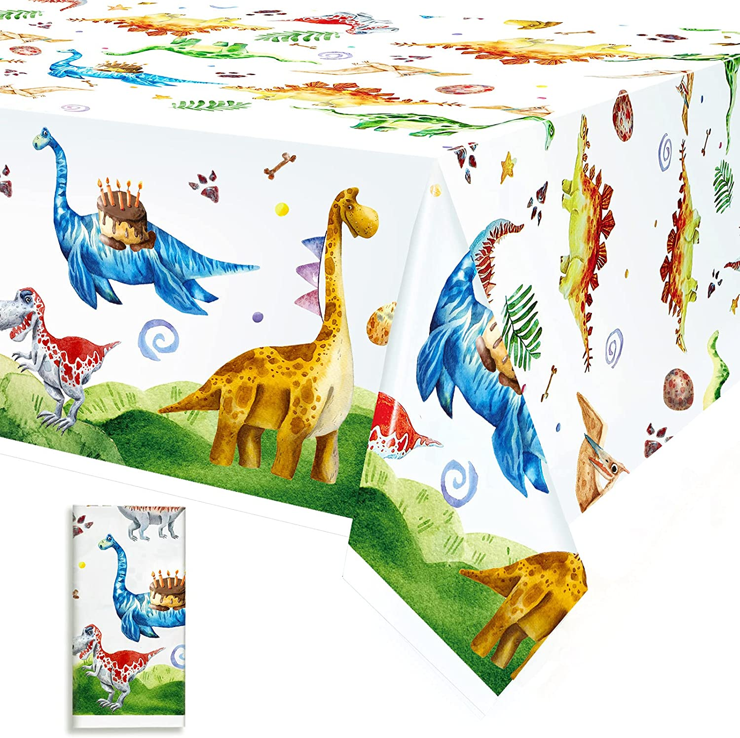 Watercolor Dinosaur Fort Worth Mall Party Tablecov Rectangle Colorado Springs Mall Tablecloth