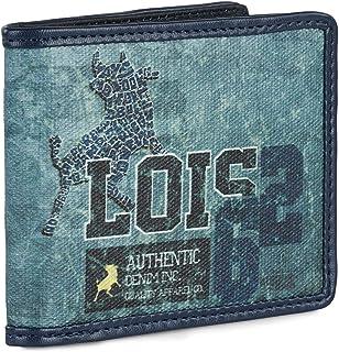 Lois - Cartera para Hombre Joven con Monedero, Billetera de Marca Original Española LOIS de Lona. Muchos Compartimentos co...