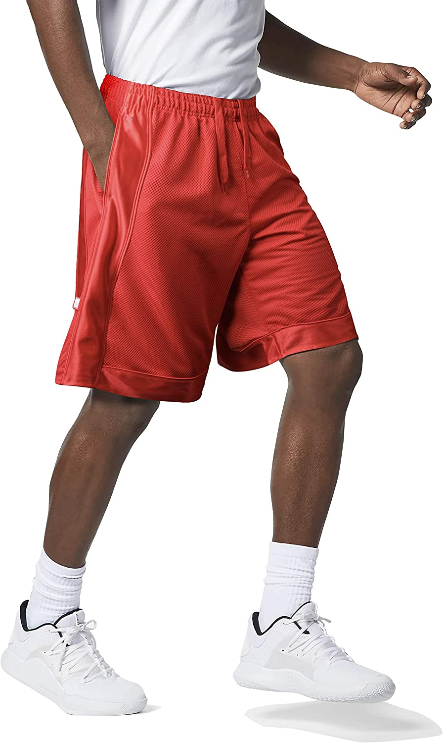 Hat and Beyond Men's Premium Heavy Mesh Basketball Shorts with Pockets | Big and Tall