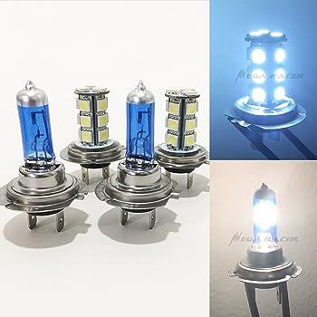 Combo 2 Pair H7 Halogen Xenon Headlight White 5000K 55w Light Bulb Hi//Low Beam