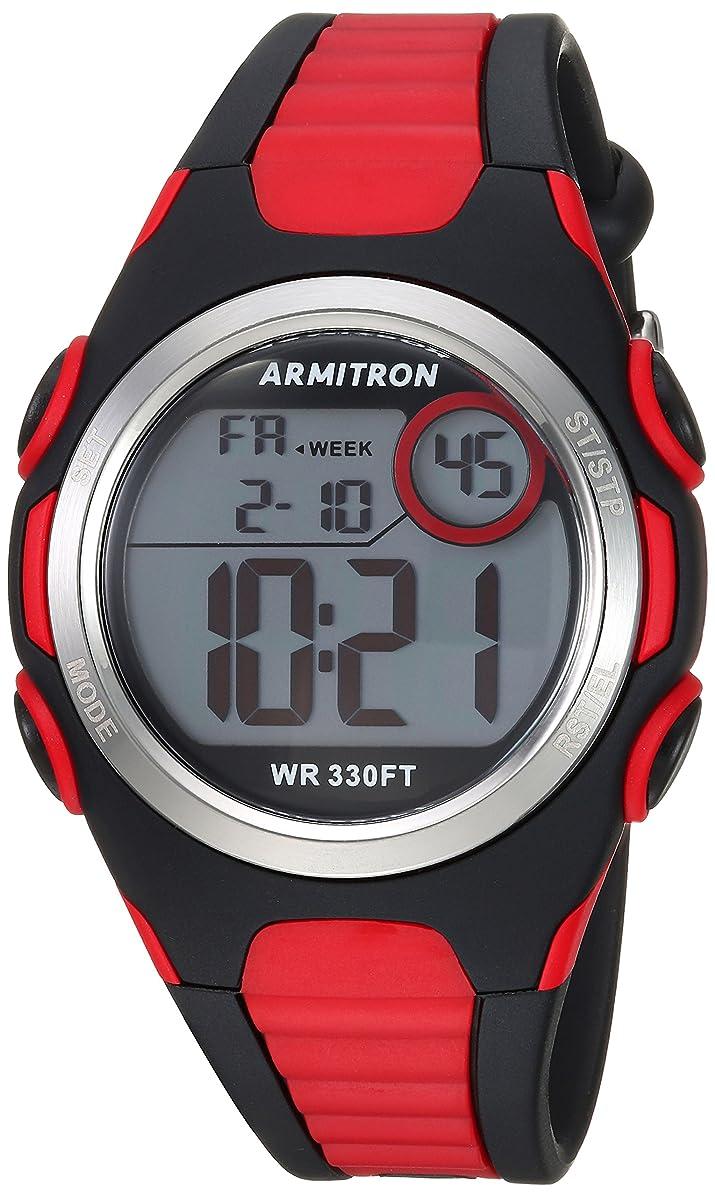 Armitron Sport Unisex 45/7076BRD Digital Chronograph Red and Black Resin Strap Watch