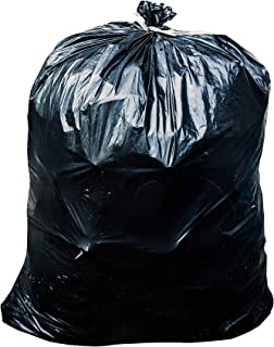 ToughBag 65 Gallon Trash Bags - 1.5 Mil - Black Heavy Duty Garbage Can Liners - 50 x 48 (50 Count)