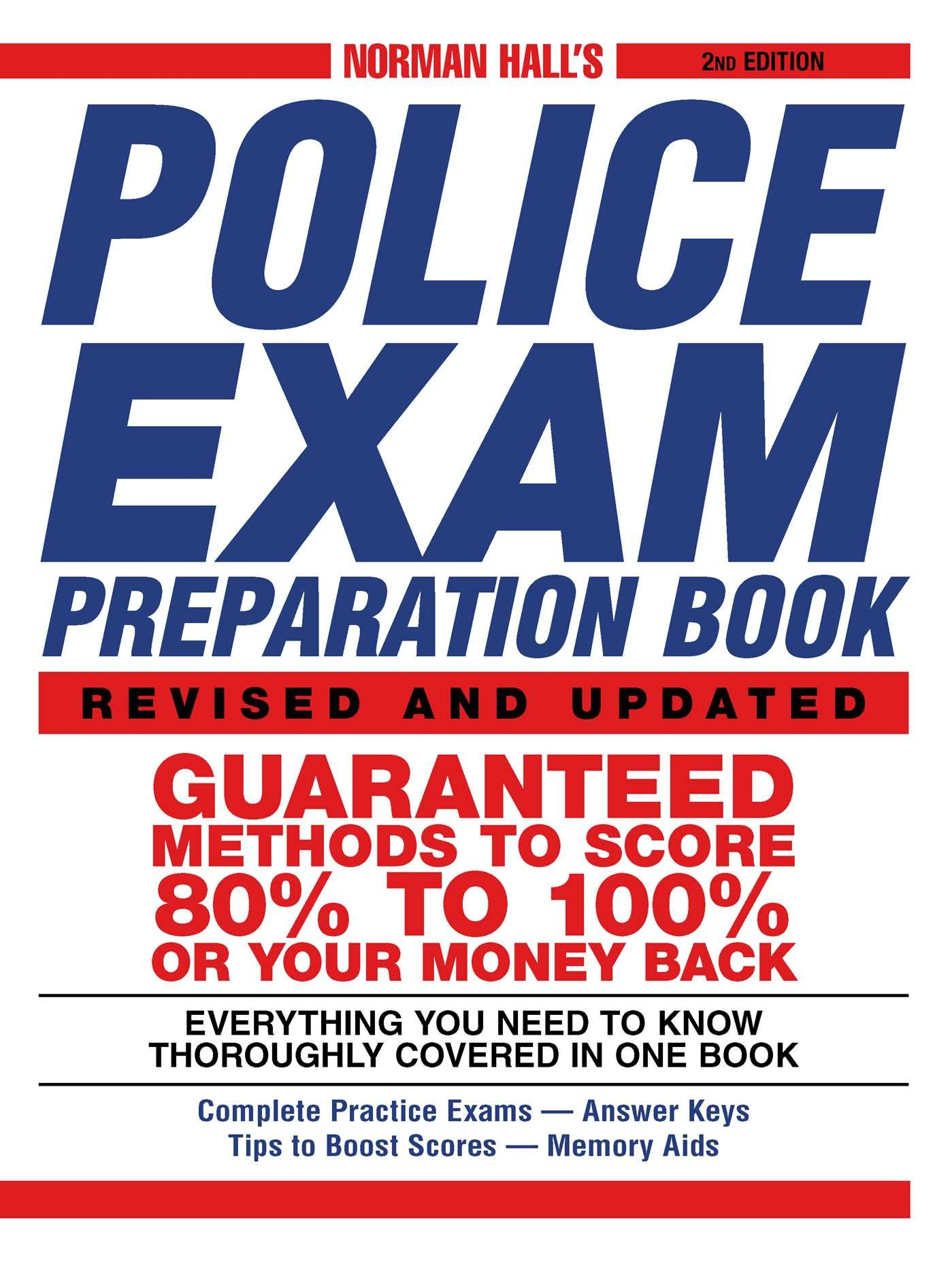 Image OfNorman Hall's Police Exam Preparation Book