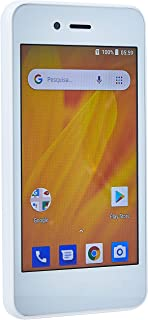 Smartphone MS40G 3G 4 512Mb RAM + 8 GB Android 8.1 Dual Câmera 5MP+2MpPBranco Multilaser - NB729