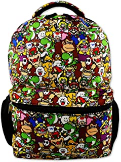 "Nintendo Super Mario Brothers Boys Girls Teen 16"" School Backpack (One Size, Black/Multi)"