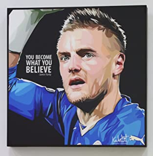 Jamie Vardy Leicester City Football Soccer Poster POP ART canvas Quotes wall decals framed