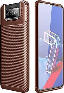 جراب FanTing لهاتف Asus Zenfone 7 Pro ZS671KS، مضاد للانزلاق وفائق النحافة ممتص للصدمات ومضاد للخدوش، غطاء لهاتف Asus Zenf...