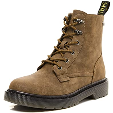 Savaii Womens Round Toe Combat Ankle Boots