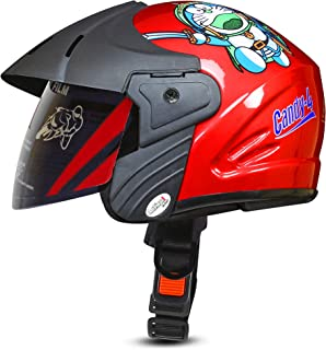 ACTIVE CANDY-4 Open Face Face Helmet for Kids from 3 to 6 Years (RED,Size-Extra Small)(CARTOON CHARACTERs MAY VERY) (RED)