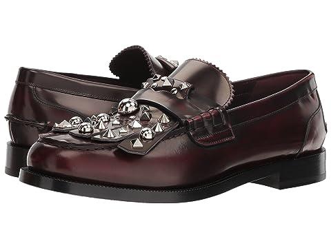 Burberry Studded Fringe Loafers
