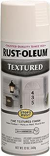 Rust-Oleum 7225830 Textured Spray Paint, 12 oz, White