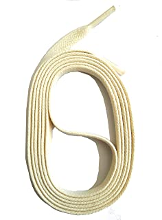 Dentelles SNORS LACETS de COULEUR PLATS cir/és CREME ca 5mm