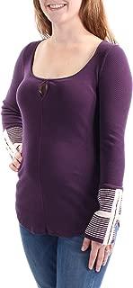 Free People Womens Mod Striped Cuff Basic T-Shirt