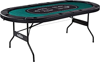 Barrington Poker Table with Padded Rails and Cup Holders – Available in Multiple Styles