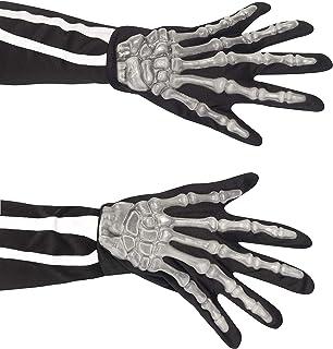 Smiffys Skeleton Raisedbones Gloves - Adult