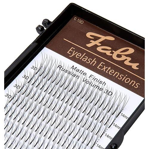 4c93f0ca26d Fabu Eyelash Extensions Russian Volume Premade 3D Fans, Thickness/Diameter  0.10, D Curl
